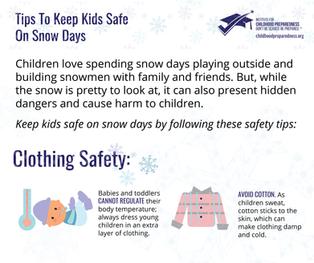 Tips to Keep Children Safe on Snow Days