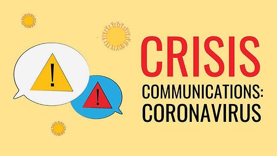 crisis communication coronvirus