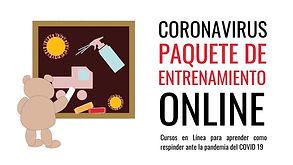 Más de 7 horas de entrenamiento en línea para aprender como responder ante el COVID-19 | $95