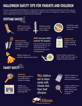 halloween safety tips costume safety info-graphic