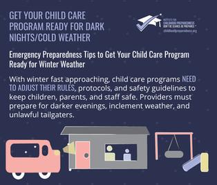 Get your child care program ready for da