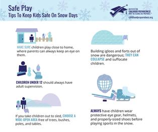 Safe Play for Snow Days Social Tile