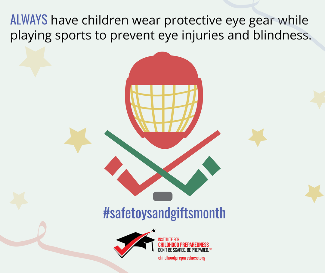 Safe toys and gifts month safe sports play social tile