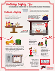 indoor home safety for holidays info-graphic