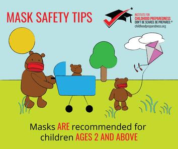 Mask safety tips for children