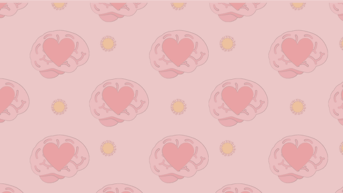brain and corona illustration