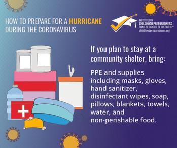 How to prepare for a hurricane during the coronavirus