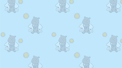 doctor bear with virus background