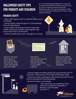 halloween safety tips walking info-graphic safety