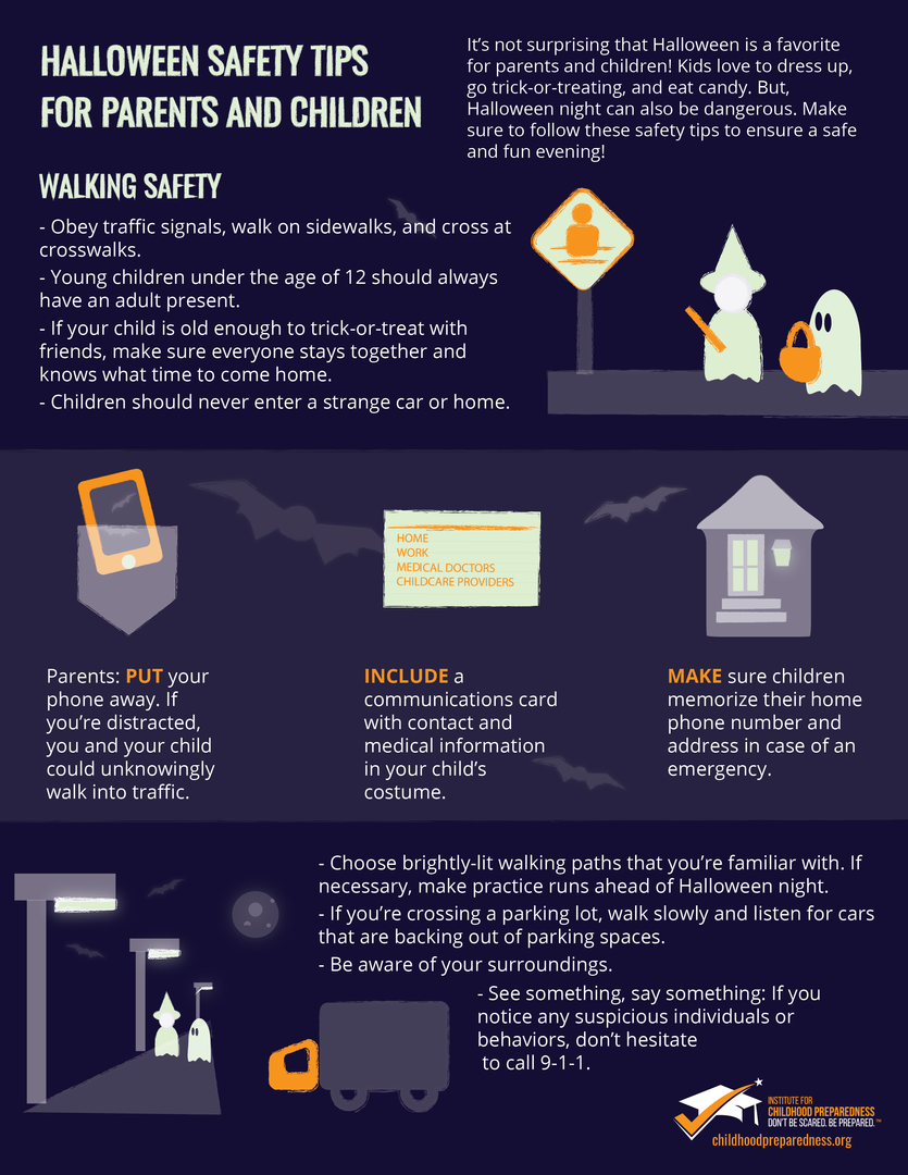 Trickertreating safety info-graphic