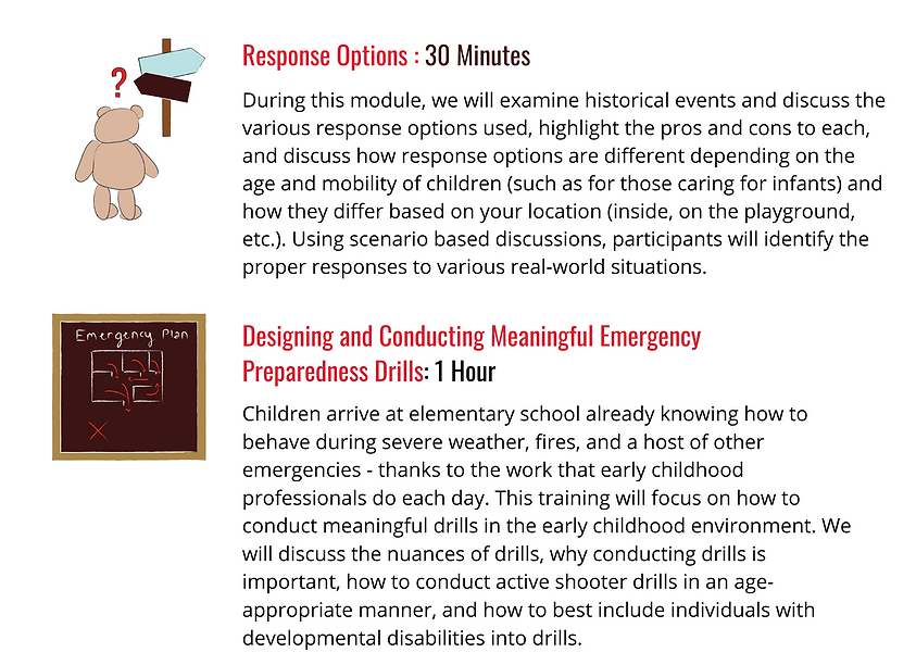 response options, designing and conducting