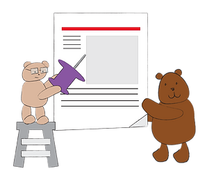 advertising bears illustration