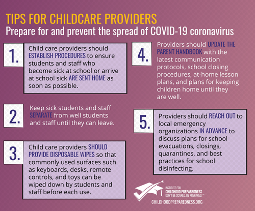 COVID 19 Tips for Childcare Providers