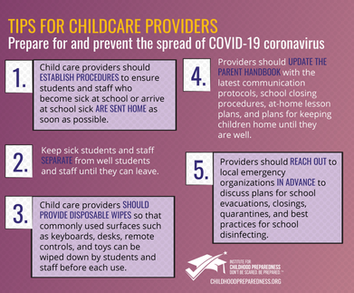 Tips for Childcare Providers
