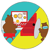 hyrbrid training bear illustration