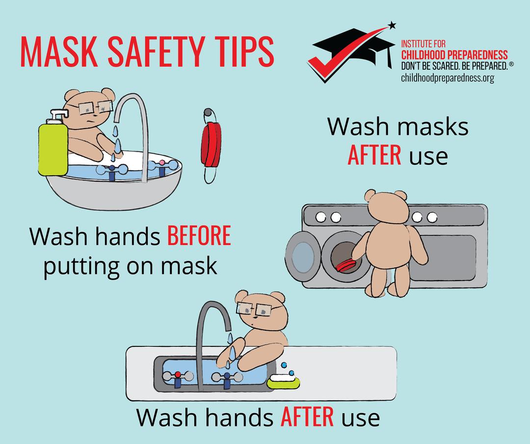 mask safety tips hand washing and mask washing
