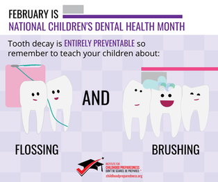Children's Dentist Month Flossing and Brushing