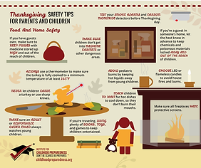 Thanksgiving Info-graphics food and home safety