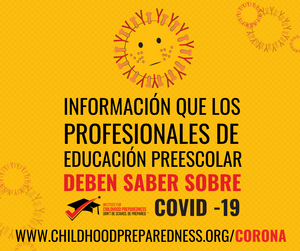 informacion que los profesionales de educacion preescolar deben saber sobre covid-19 coronavirus