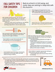 Fall safety tips for children