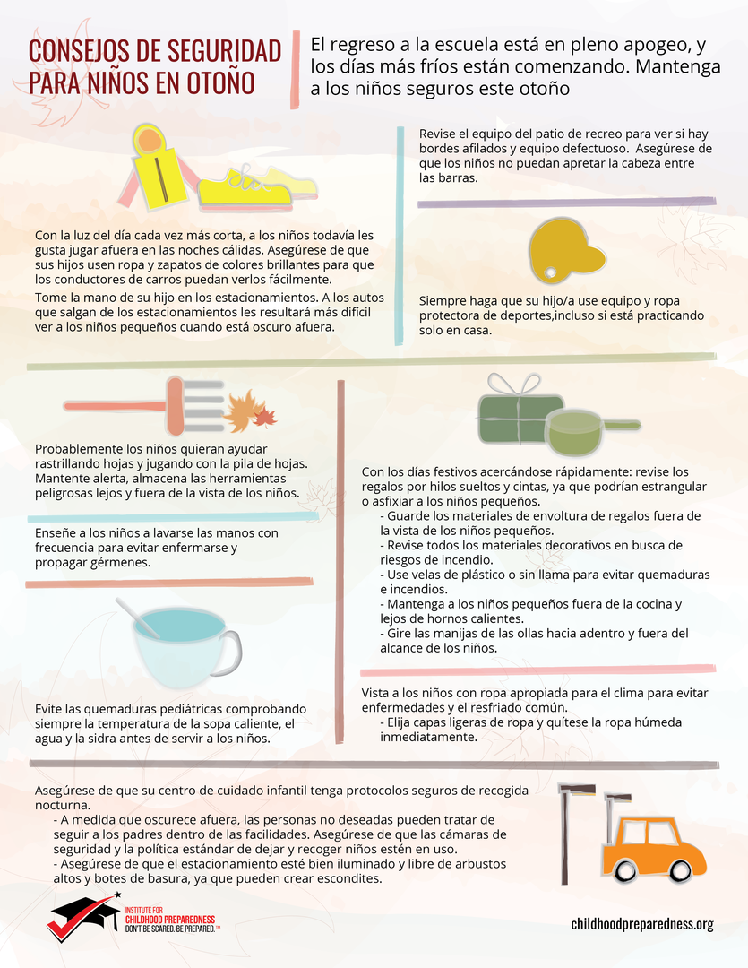 Consejos de seguridad del otono para ninos