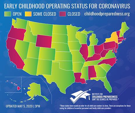 0505 Map Early childhood operating statu