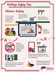 indoor safety and kitchen safety info-graphic