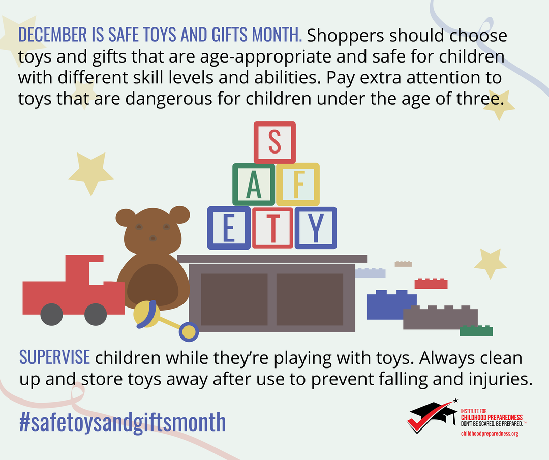 Safe toys and gifts month social tile 2