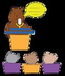 bear speaking illustration