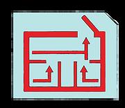 Emergency plan escape plane icon