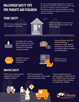 halloween safety tips home safety info-graphic