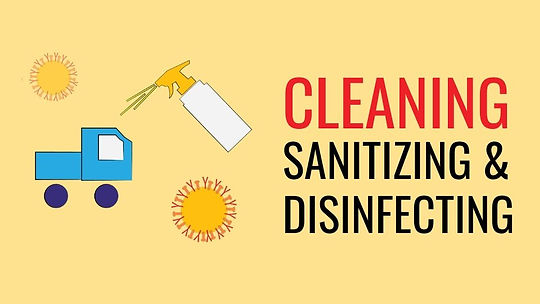 cleaning sanitizing and disinfecting