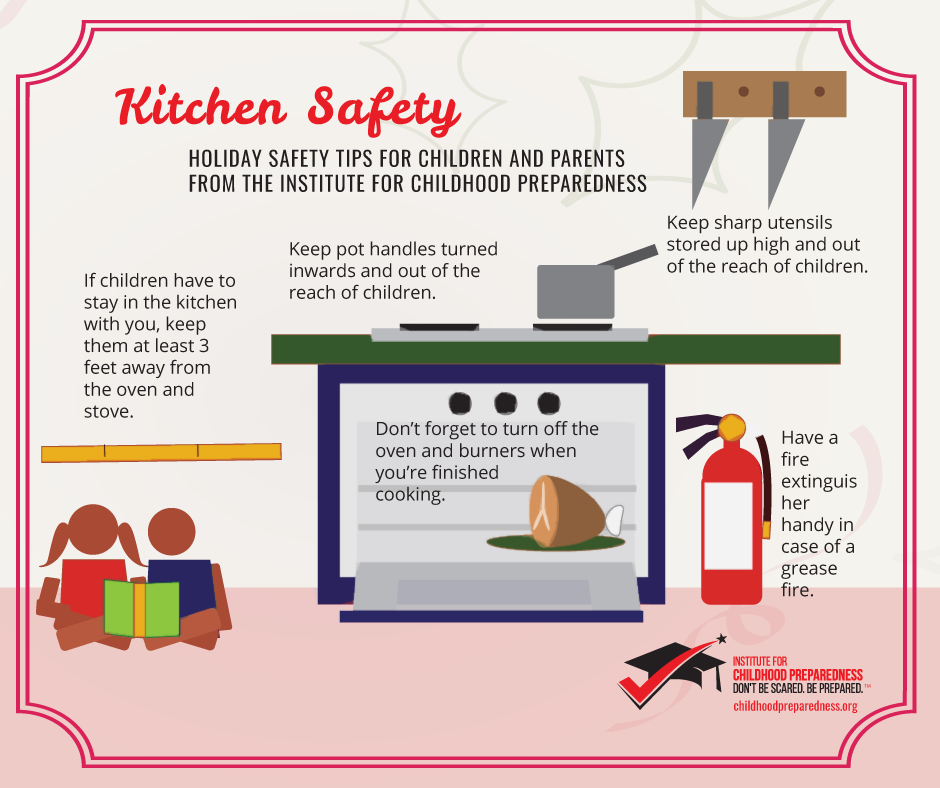 Holiday Kitchen safety graphic