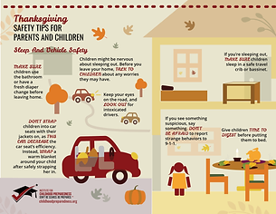 Thanksgiving Info-graphics vehicle safety