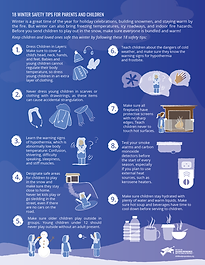 18 tips for winter safety info-graphics