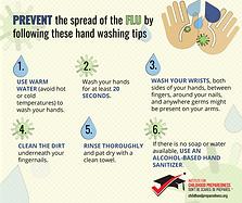 prevent the flu info-graphic