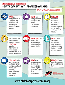 How to evacuate with advanced notice info-graphic
