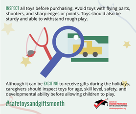 Safe toys and gifts month social tile 1