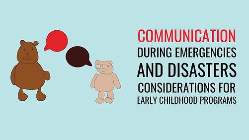 communication during emergencies