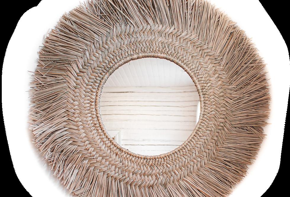 INDIRA - natural leaf mirror