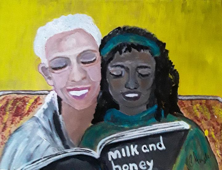 Grandma and Granddaughter by Angela Taylor