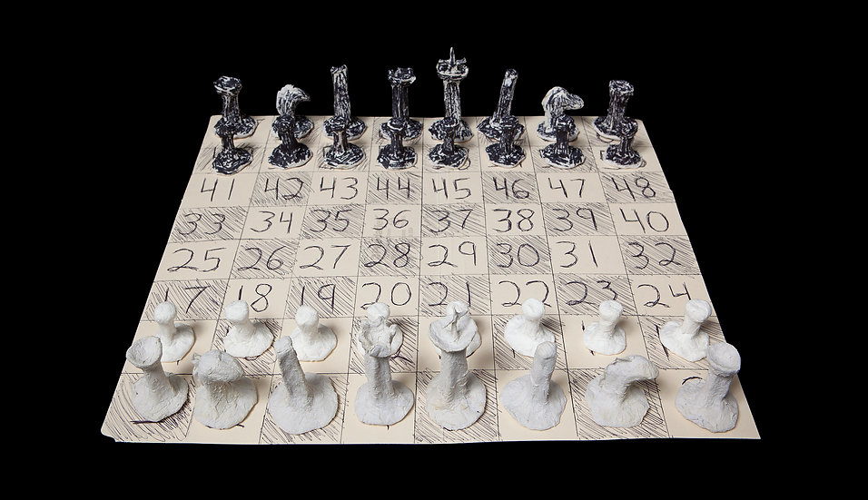 Chessboard with Chess Pieces by Michelle Repiso