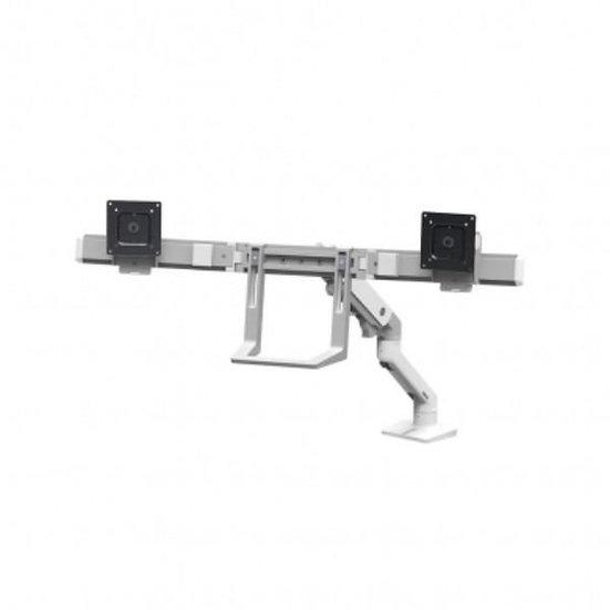 Ergotron HX Desk Dual Monitor Arm, Ergotron Silver Metallic
