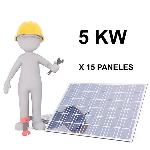 KIT SOLAR ON-GRID - 5 KW - 15 PANELES - INSTALACION INCLUIDA