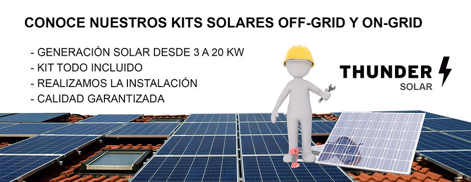 Kits solares desde 3kwh hasta 20 kwh