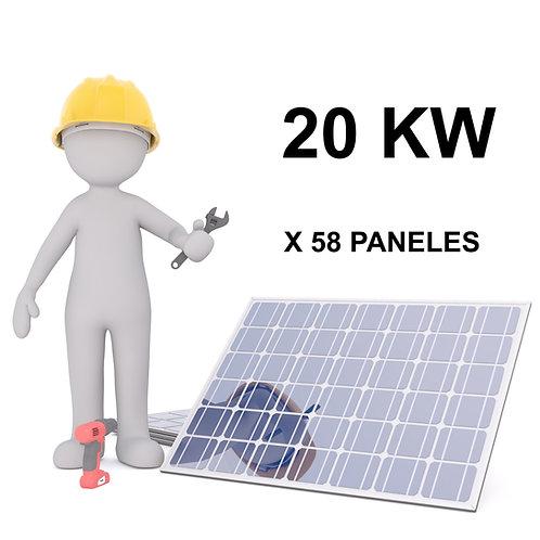KIT SOLAR ON-GRID - 20 KW - 58 PANELES - INSTALACION INCLUIDA
