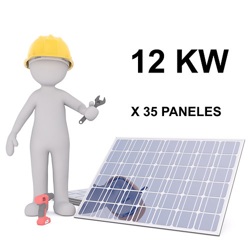 KIT SOLAR ON-GRID - 12 KW - 35 PANELES - INSTALACION INCLUIDA