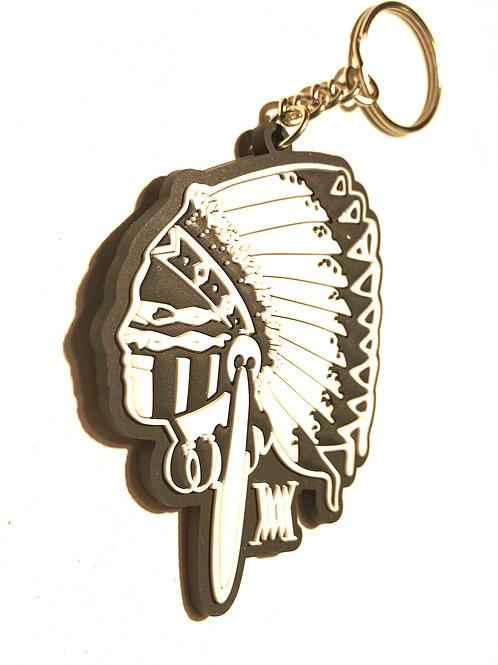 BIG CHIEF rubber key chain