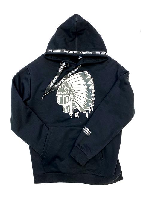 Big Chief hoodie (black)