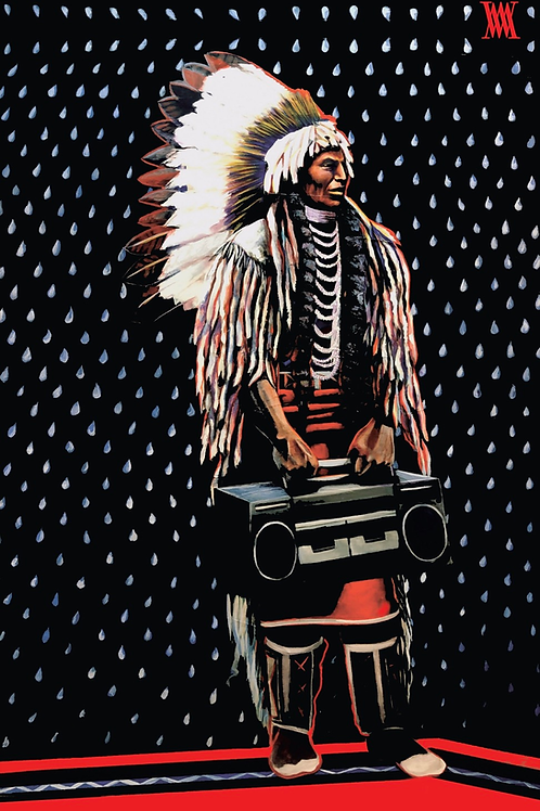 """Chief Umapine revisited"" print"